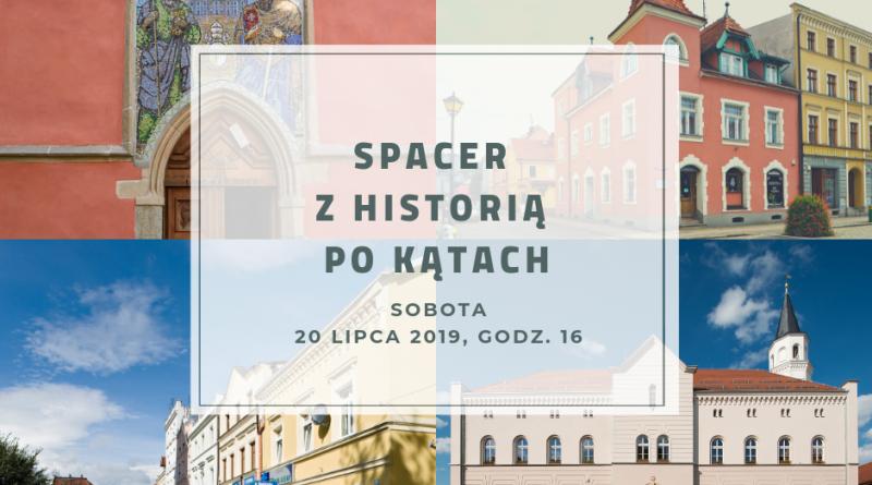 Grafika przedstawia najważniejsze zabytki Kątów Wrocławskich