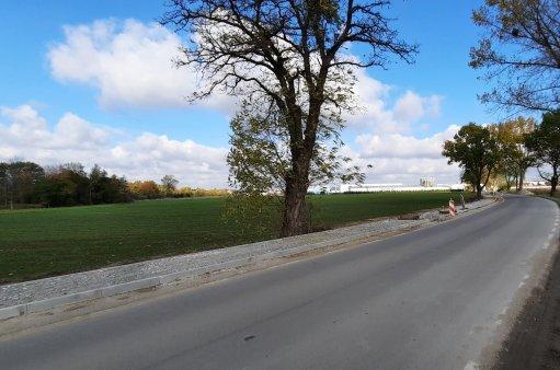 Fragment ścieżki rowerowej B&R Katy Wrocławskie - Nowa Wieś Kącka